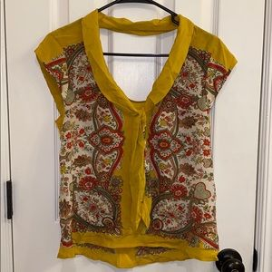 Anthropologie • Maeve Marigold Paisley Top (4)